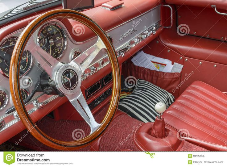 Mercedes-Benz SL 300 Gullwing, Interior - Download From Over 58 Million High Quality Stock Photos, Images, Vectors. Sign up for FREE today. Image: 91120955
