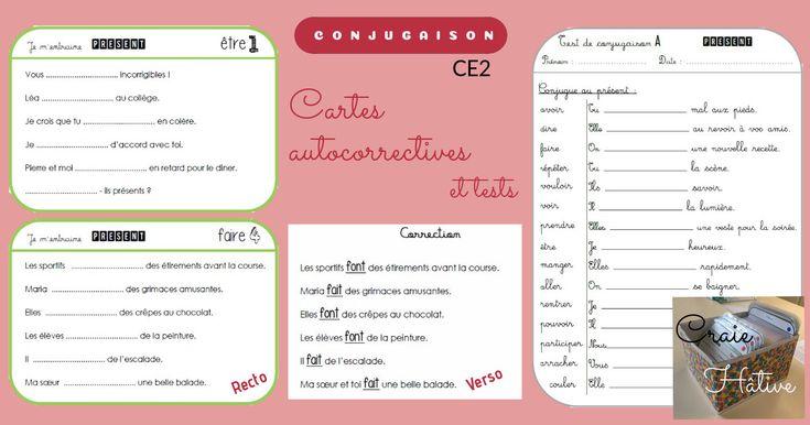 Exercices de conjugaison : cartes et tests pour le CE2 ...