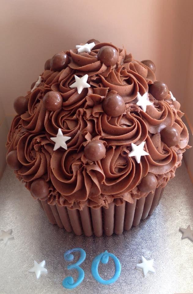 Chocoholic Boys Girls Giant Cupcakes Jumbo Cuppas