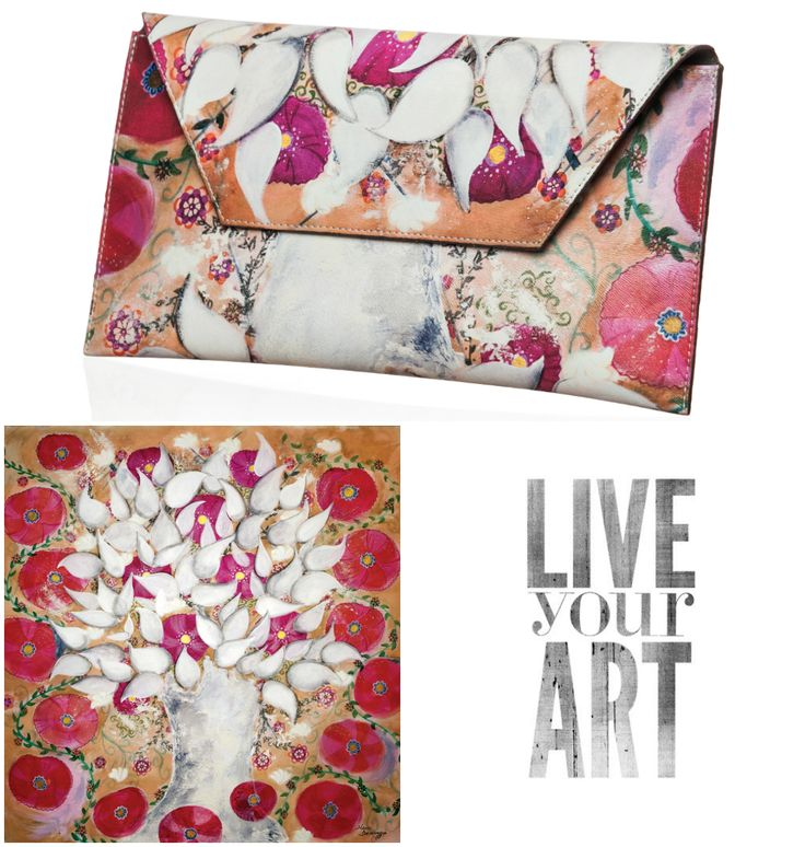 Tree of life accessory- silk scarf and clutch bag