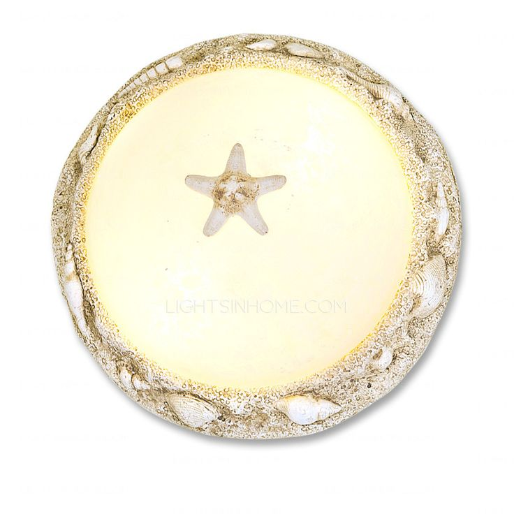Best Country Seashell Flush Mount Ceiling Lights Euro For Bedroom