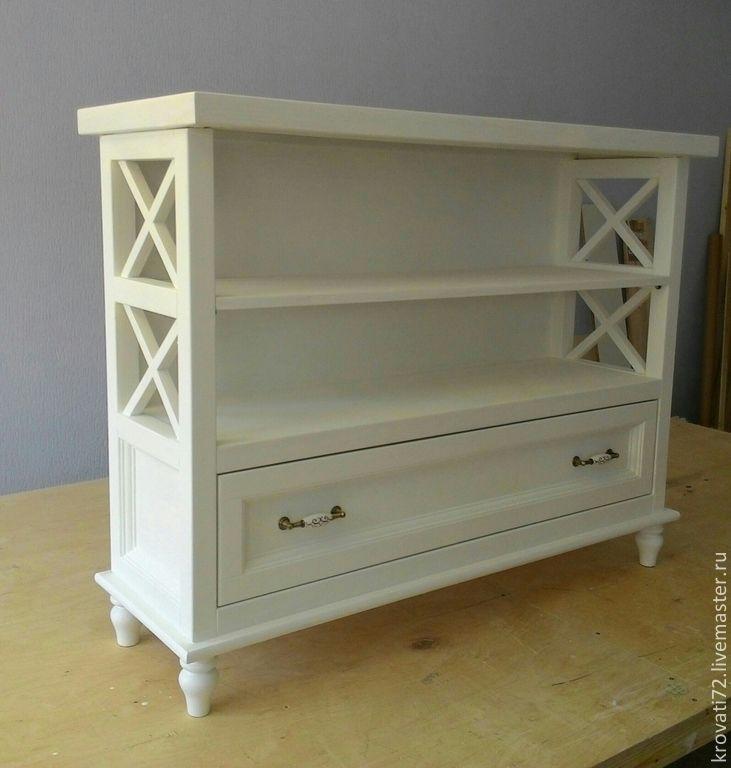 Купить Консоль мебельная - белый, Мебель, мебель ручной работы, мебель из дерева, мебель на заказ