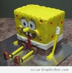 un gâteau Bob léponge