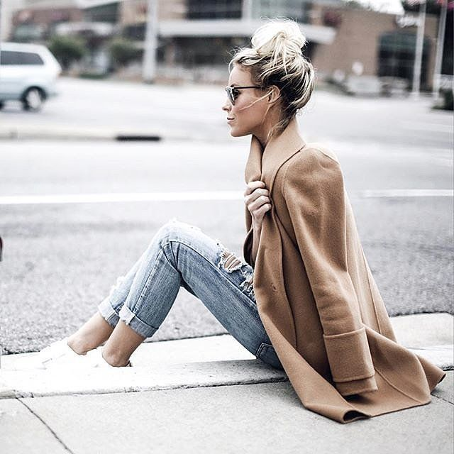 A sleek coat with your usual basics