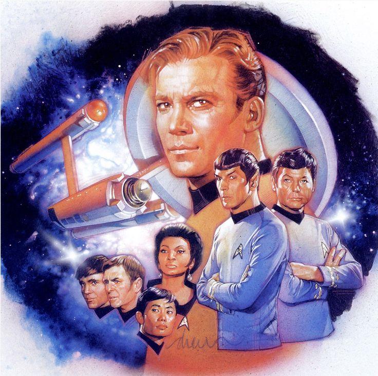 brianmichaelbendis:  Star Trek art by Drew Struzan