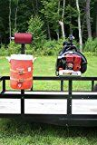 #ad Open Trailer Rack System by Pack'em Racks - Backpack Blower, Cooler & Trim line Holder - PK-OP1/BM  PK-OP1 is to be used on open trailers. This product includes: 1 Backpack Blower Rack (lockable) 1 Beverage Cooler Rack 1 Line Holder Rack Assembly hardware. (Equipment/tools are not included) Backpack Blower Holder :  The backpack blower holder is designed to securely hang your blower at its grab handle. Just hang your blower from the hook and then fold down the steel arm. Once the..