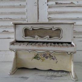Antieke Speelgoed Piano ca. 1890 Jugendstil