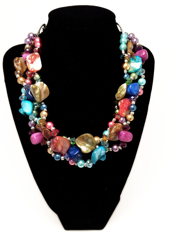 My most popular necklace! The rainbow necklace! Only $35....you choose your colors!   http://www.etsy.com/listing/90586737/petite-twisted-statement-necklace-red