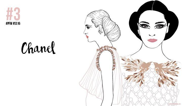 PARIS FASHION WEEK SS16: MY SKETCHY TOP 3 #Chanel #pfw #ss16 #fashionillustration #ChiaraRigoni