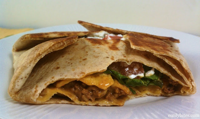 Emily Bites - Weight Watchers Friendly Recipes: Taco Wrap Deluxe - 7 Points+