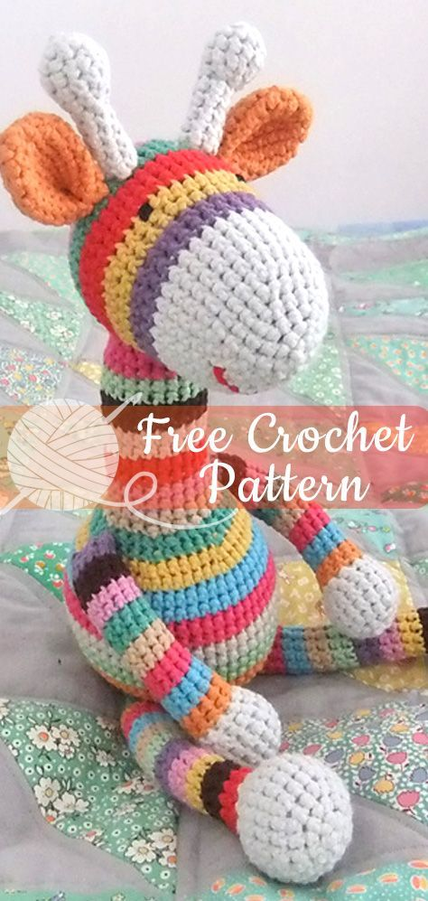 CROCHET GIRAFFE [CROCHET FREE PATTERNS] #giraffe #amigurumi