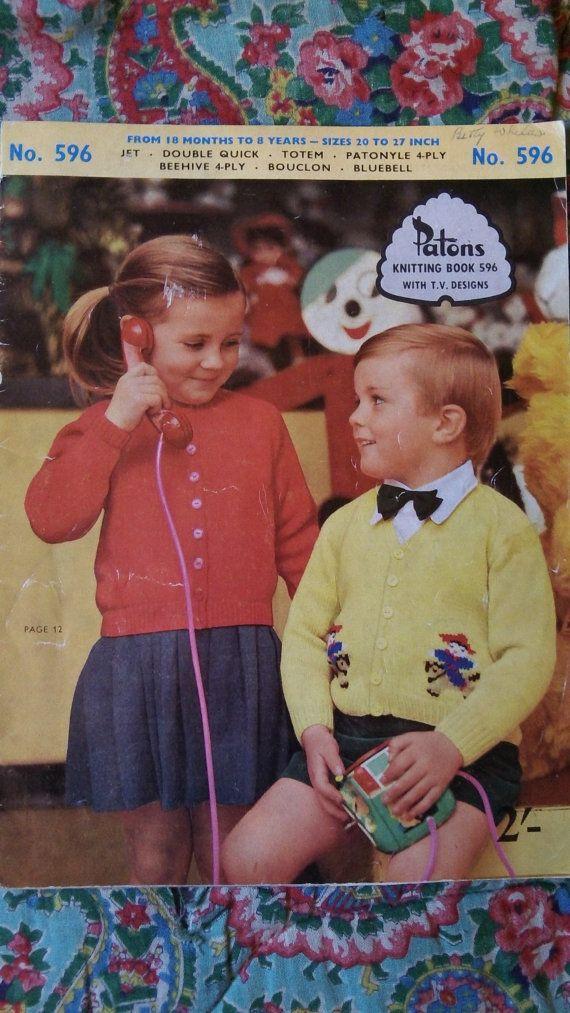 Fab 1950's original vintage Patons knitting by Gladyswasagirl, $6.00
