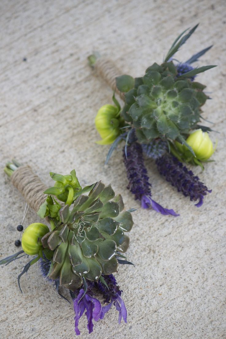 17 best boutonniere styles images on pinterest boutonnieres succulents with spanish lavender dahlia buds and blue thistle with twine wrap izmirmasajfo