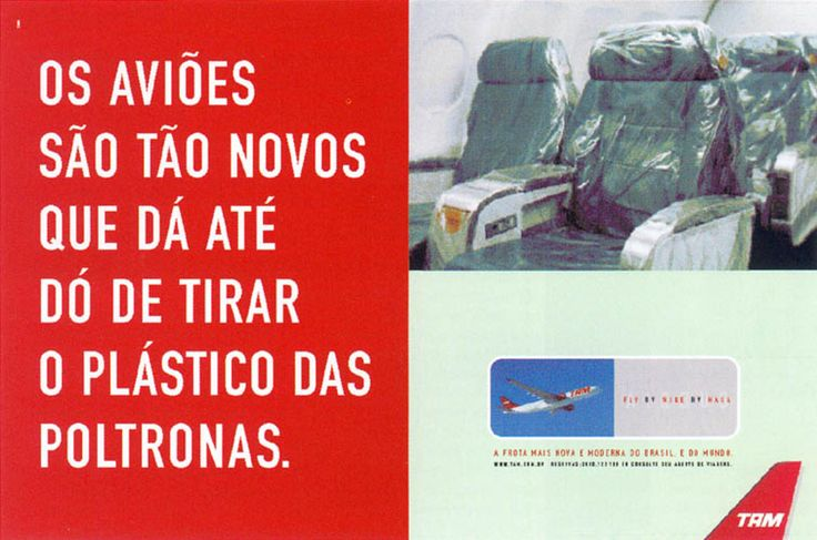 Read more: https://www.luerzersarchive.com/en/magazine/print-detail/tam-airlines-16812.html TAM  Airlines The airplanes are so new, it´s a pity to remove the plastic from the seats. Claim: Tam. The newest and most modern airline fleet of Brazil. And the world. Tags: Richard Kohout,Jáder Rossetto,Pedro Cappeletti,TAM  Airlines,DM9DDB, São Paulo