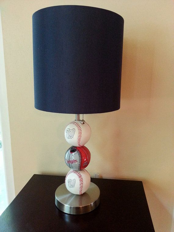 Washington Nationals Custom Baseball Lamp By ChristyVsCreations 8900