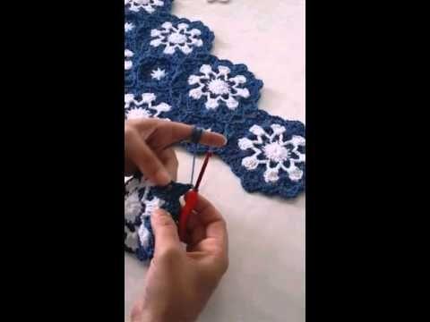 Kar tanesi battaniye nasıl örülür? Derya Baykal Derya'nın Dünyası – 5 Ocak 2015 - YouTube