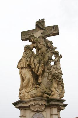 Photos of Charles Bridge South Side Statues: Statue of St. Lutgard on Charles Bridge