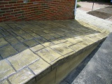 stamped concrete ramp