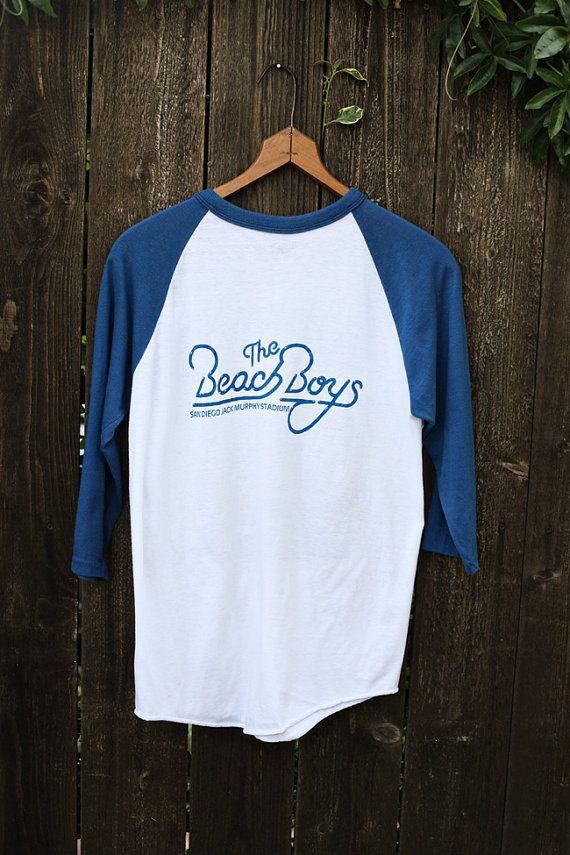 Unisex 80s Vintage Beach Boys Rock Baseball T-Shirt