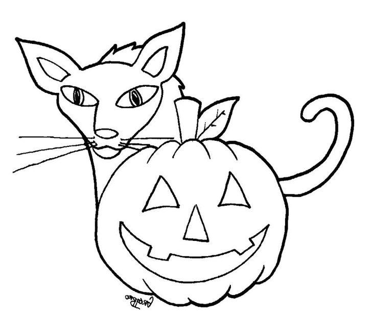 Grumpy Cat And Pumpkins Coloring Page