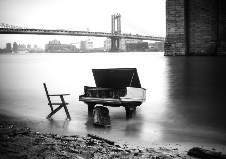 Piano in East River - Whilst in New York I stumbled upon this baby grand piano that was sitting in the East River, just under the Brooklyn Bridge.  I think this will remain as one of my favorite photos for a very long time to come. I Hope more people get the chance to photograph this beauty before it inevitably disappears...