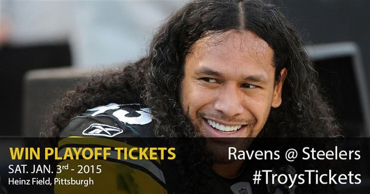 Win Troy's Playoff Tickets And Watch Steelers Take On Ravens
