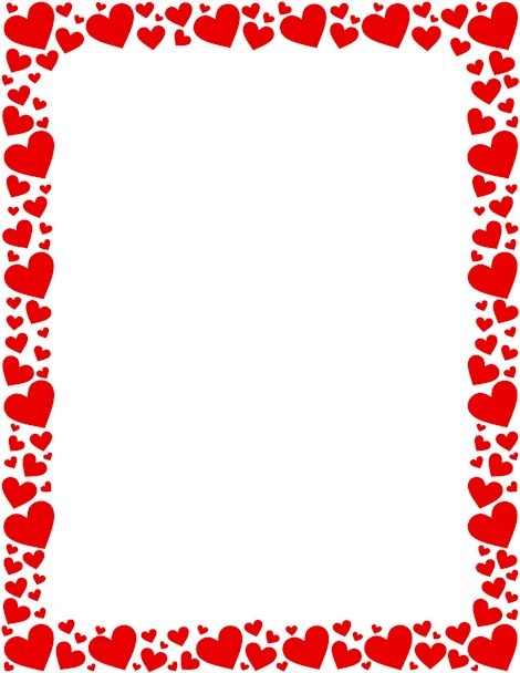 graphic regarding Valentine Borders Free Printable called Inexperienced Centre Border body t Clip artwork Paper paper and
