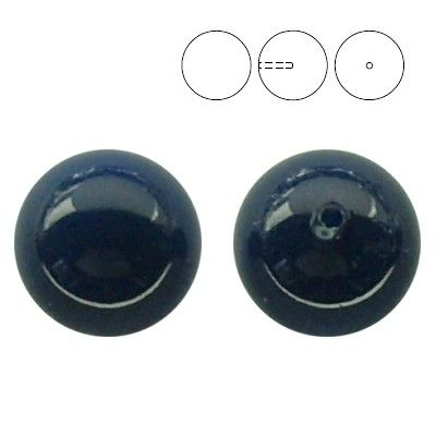 5818 10mm Dark Lapis Pearl - 1 hole  Dimensions: 10,0mm Colour: Crystal Dark Lapis Pearl 1 package = 1 piece