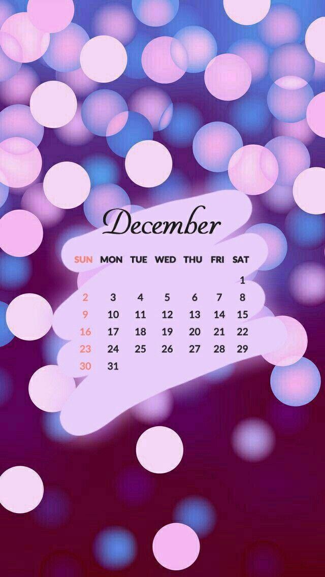 Calendario 2018 Dicember Diciembre Fondo De Pantalla