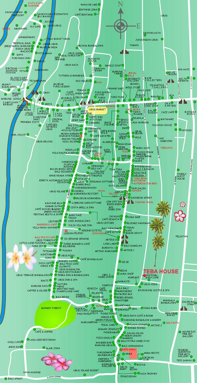 #ubud #bali #map