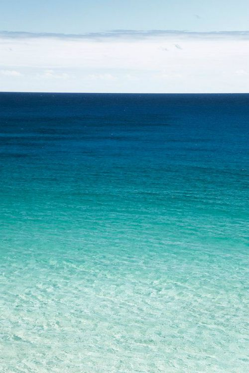 Turquoise sea, good colours for Luca's gradient blue chest of drawers. Rather than going from dark at the bottom to lighter going up, going from light to dark!