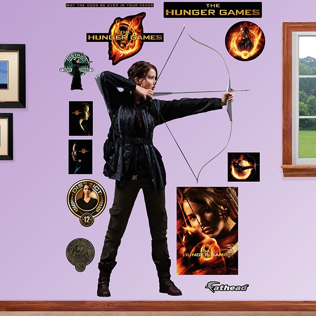 Katniss Everdeen Fathead Wall Graphic.
