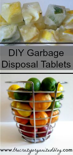 All natural DIY garbage disposal tablets .... quick & easy DIY cleaning solution!   thecrazyorganizedblog.com