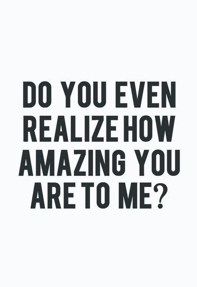 Do you even realize?