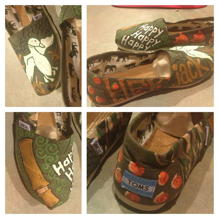 Duck dynasty olive green hand painted toms