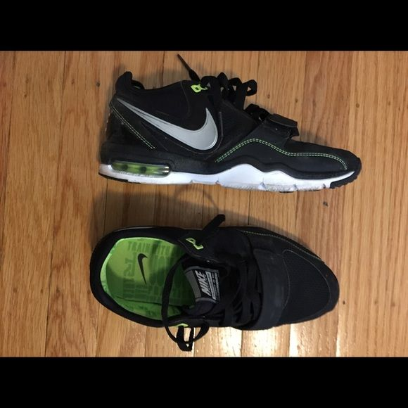 Nike trainer Black and green Nike trainer one. Worn once. Nike Shoes Sneakers