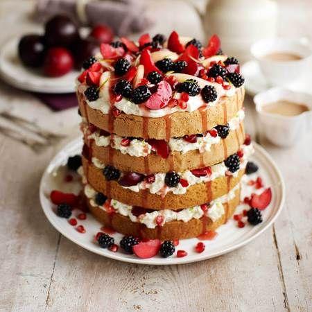 Cake recipe: MasterChef's Layered Pear & blackberry cake