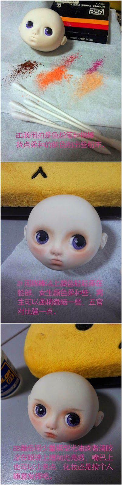 El hada de los cuentos: Tutorial cabeza muñeca tipo Blythe.