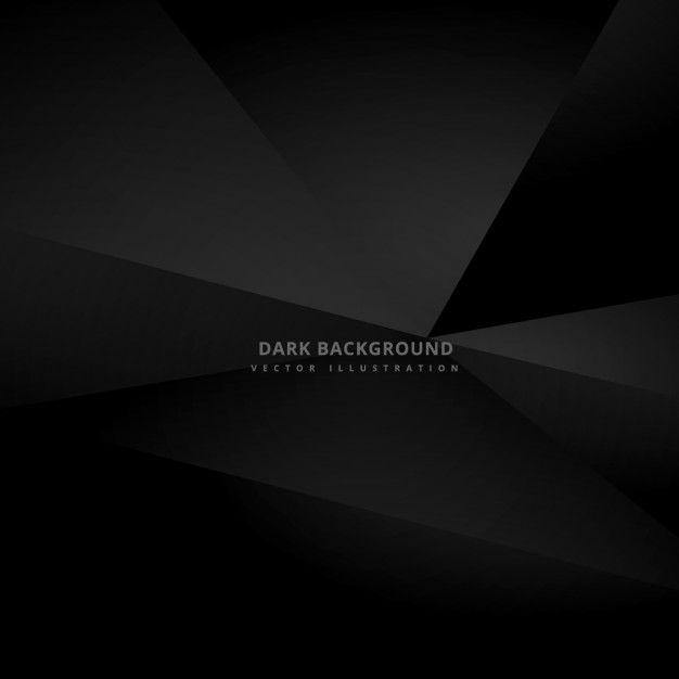 Black polygonal background Free Vector