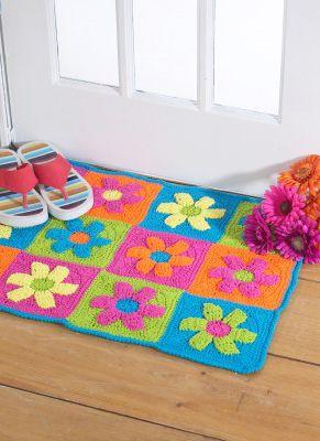 Free Flower Power Rug Crochet Pattern