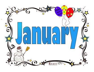 Month of January | Is your child working on learning the Months of the Year?