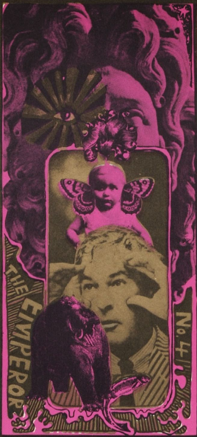 Martin Sharp, Tarot Cards; OZ Magazine (No. 4), June, 1967. more here: http://magictransistor.tumblr.com/post/125053254616/martin-sharp-tarot-cards-oz-magazine-no-4