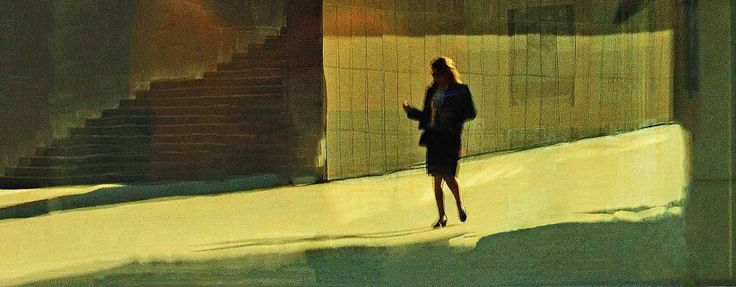 Homage to Edward Hopper n° 3 of 10 by Jonathan Eden-Drummond
