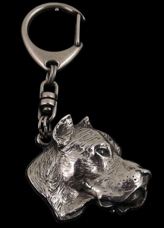Dogo Argentino dog keyring keychain limited by ArtDogshopcenter