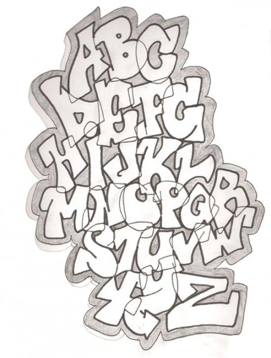 2 Sketch Style Of Graffiti Alphabet By Demonking Aka Grim