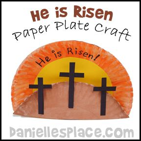 Easter Craft - He is Risen Paper Plate Craft for Bible School