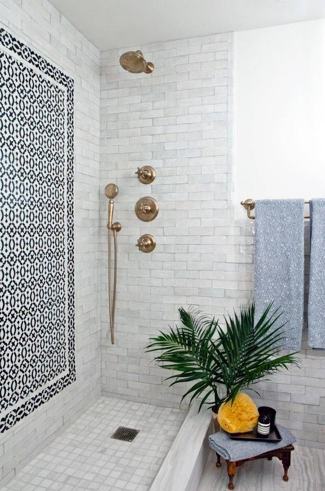 palm fronds in the bathroom.