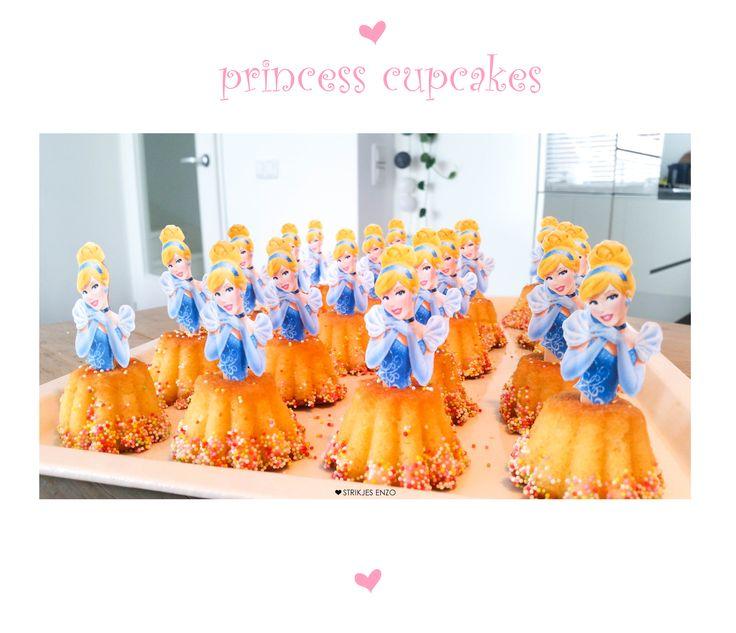 prinsessen uitdelen op school. leuk en makkelijk om samen te maken! zie/lees alles in onze blog! ** prinses, princess, assepoester, cinderella, cupcake, cupcakes, disney, meisje, traktatie, trakteren, stercakejes, peuter, kleuter, afscheid, verjaardag, birthday