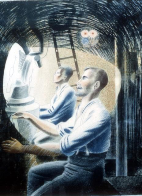 Working Controls while Submerged, Eric Ravilious