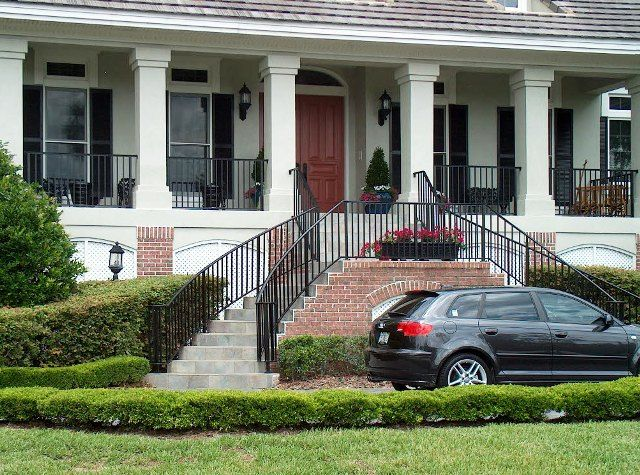 Best Front Porches With Iron Railing Rod Iron Porch Railings 400 x 300
